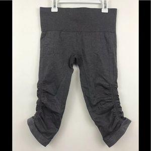 Lululemon Awakening Crop Pants Gray Yoga Capris 6